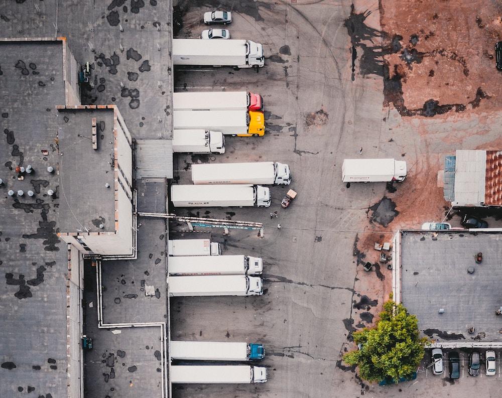 Camiones desde el aire
